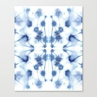 Mirror Dye Blue Canvas Print
