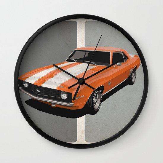 Camaro- Orange Wall Clock