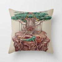 tree land Throw Pillow