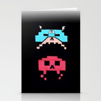 Captain America  & Red Skull space invaders Stationery Cards