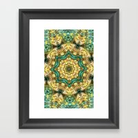 Jade & Gold Framed Art Print
