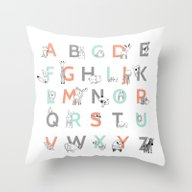 Animal Alphabet Throw Pillow