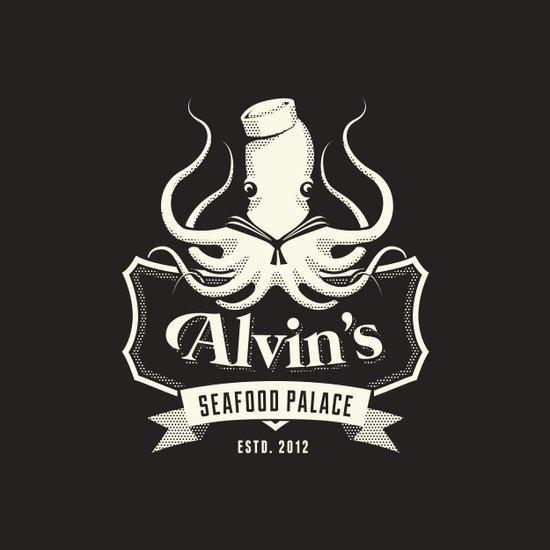 Alvin's Seafood Palace - Fantasy Vintage Logo Art Print