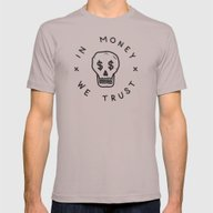 In Money We Trust Mens Fitted Tee Cinder SMALL
