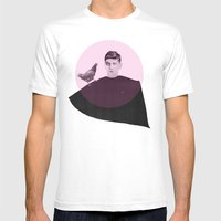 Boy Pinched By A Hen Mens Fitted Tee White SMALL