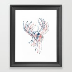 Deerly Beloved Framed Art Print