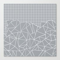 Abstract Outline Grid Gr… Canvas Print