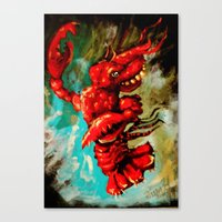 Dance Lobster Canvas Print