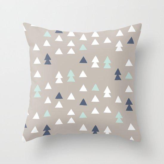 Little Triangles Throw Pillow