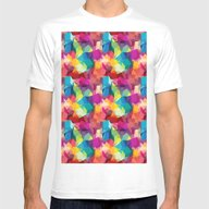 Abstract Colorful Patte… Mens Fitted Tee White SMALL