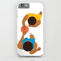 iPhone & iPod Case featuring Basketball / Geometrical portrait of the LA Laker vs the New York Knicks by The Modern Era