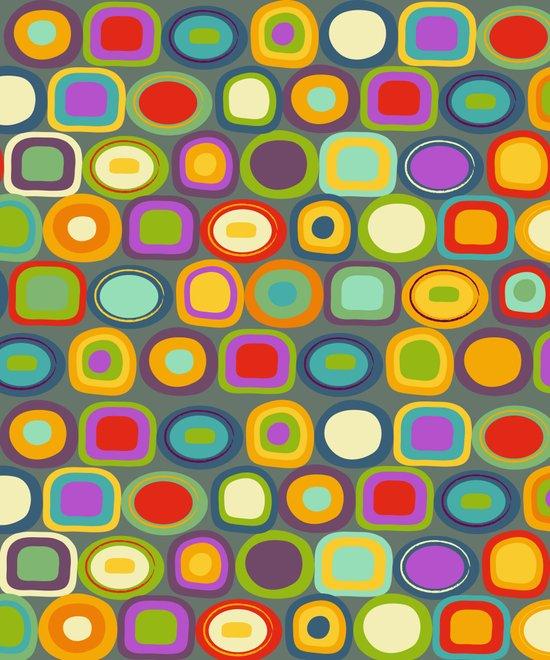 Multicolored Dots Canvas Print