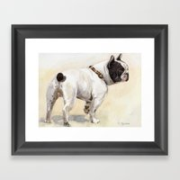 French Bulldog A050 Framed Art Print
