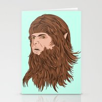 teen wolf Stationery Cards featuring Teen Wolf by Joseph Botcherby