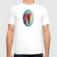 One Scoop Or Two Mens Fitted Tee White SMALL