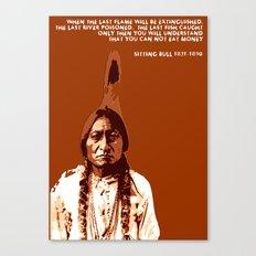 Sitting Bull Native Indian Canvas Print