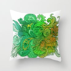 Floral Indian Pattern 01 Throw Pillow
