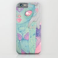 mermaid iPhone & iPod Cases featuring Mermaid by lOll3