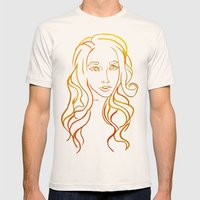 Yellow Portrait Mens Fitted Tee Natural SMALL