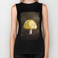 Little Yellow Mushroom Biker Tank