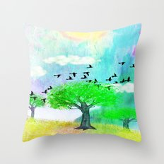 ONE SUNNY DAY - 049 Throw Pillow