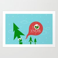 Greestmas. Save Xmas Trees Art Print