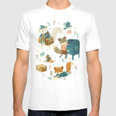 Critter Post Mens Fitted Tee White SMALL