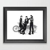 Outrun My Gun Framed Art Print