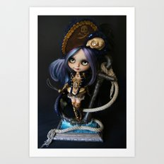 LADY BUCCANEER PIRATE OOAK BLYTHE ART DOLL Art Print