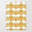 Elephant March Canvas Print