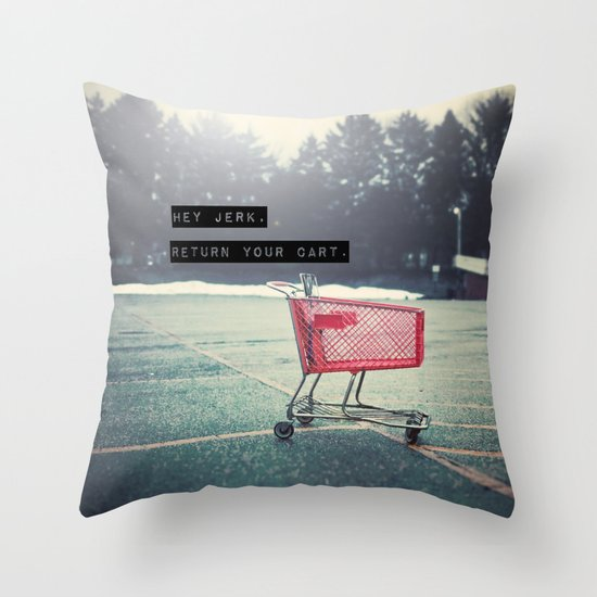 Grocery Cart Rage  Throw Pillow