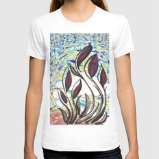Moment Womens Fitted Tee White SMALL