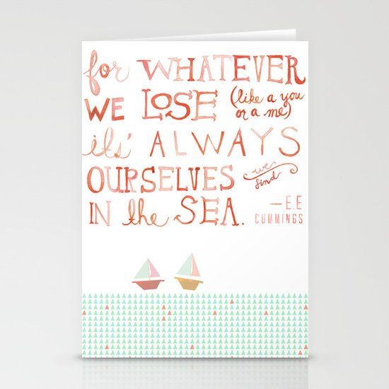 for whatever we lose. .. Stationery Card