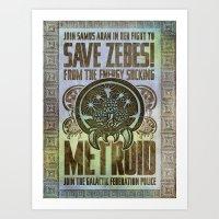 Save Zebes! Metroid Geek… Art Print
