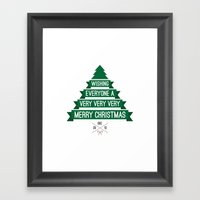 Merry Wishes Framed Art Print