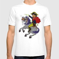 Napoleon Goes Rampage Mens Fitted Tee White SMALL