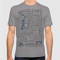 Central Beijing Mens Fitted Tee Athletic Grey SMALL