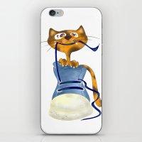 Cat Slipper iPhone & iPod Skin
