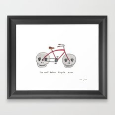 The Most Badass Bicycle … Framed Art Print