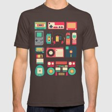 Retro Technology 1.0 Mens Fitted Tee Brown LARGE