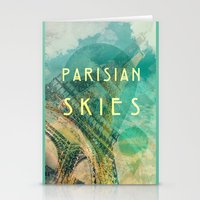 Songs and Cities: Parisian Skies Stationery Cards