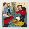 Star Trek Jam Band Canvas Print