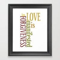 Love Is Forgiveness 2 Framed Art Print