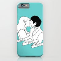 iPhone & iPod Case featuring Make Out City (teal) by near modern disaster