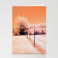 Barbed Wire Fence Stationery Cards