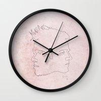 One line Fight Club Wall Clock