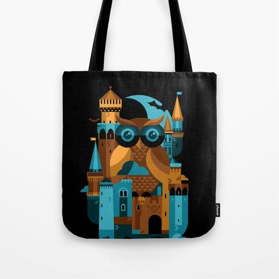 Owl Castle Tote Bag