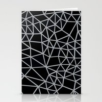 Segment Grey and Black Stationery Cards