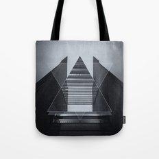 The Hotel (experimental futuristic architecture photo art in modern black & white) Tote Bag