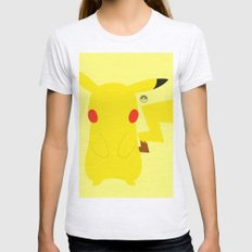 Pikachu(Smash) Womens Fitted Tee Ash Grey SMALL